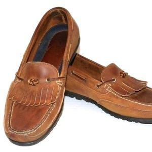 Polo Ralph Lauren Men Brown Leather Kiltie Shoes